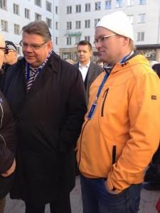 minä ja Timo Soini Oulussa 2