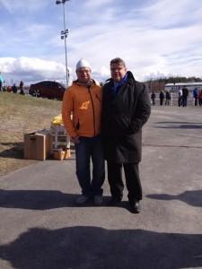 minä ja Timo Soini Oulussa